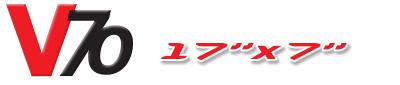Logotipo V70 17×7