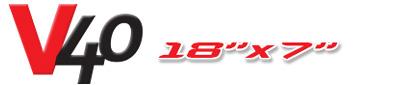 Logotipo V40 18×7