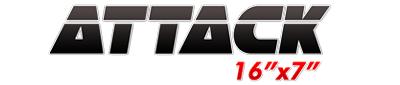 Logotipo Attack 16×7