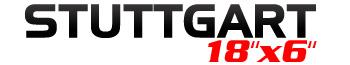 Logotipo Stuttgart 18″x6″