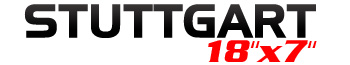 Logotipo Stuttgart 18″x7″