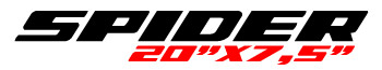 Logotipo Spider 20″x7,5″