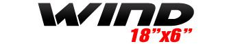 Logotipo Wind 18″x6″