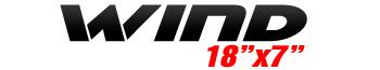 Logotipo Wind 18″x7″