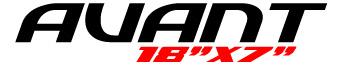 Logotipo Avant 18″x7″