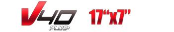 Logotipo V40 Plus 17″x7″