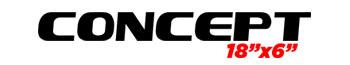 Logotipo Concept 18'x6″
