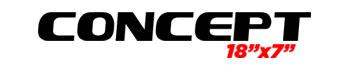 Logotipo Concept 18'x7″