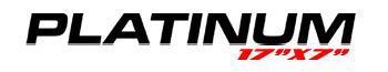 Logotipo Platinum 17″x7″