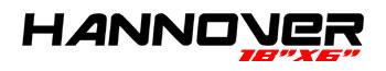 Logotipo Hannover 18″x6″