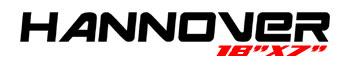 Logotipo Hannover 18″x7″